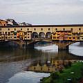 Impressions Of Florence - Ponte Vecchio Autumn by Georgia Mizuleva