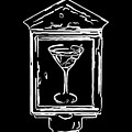 In Case Of Emergency - Drink Martini - Black by Wingsdomain Art and Photography