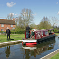 In Papercourt Lock On The Wey Navigations by Julia Gavin