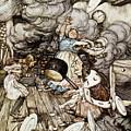 In The Duchesss Kitchen by Arthur Rackham