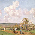 In The Fields by Camille Pissarro