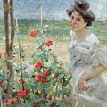 In The Flower Garden, 1899 by Umberto Veruda
