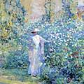 In The Flower Garden 1900 by Reid Robert Lewis