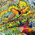 Birds In The Forest by Lynn Hansen