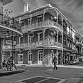 In The French Quarter - 3 Bw by Steve Harrington