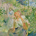 In The Garden At Roche Plate by Berthe Morisot