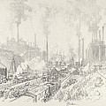 In The Land Of Iron And Steel by Joseph Pennell