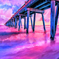 In The Pink On Pensacola Beach by Mark Tisdale