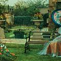 In The Plesaunce by John Atkinson Grimshaw