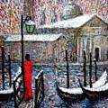 In The Snow In Venice by Riccardo Maffioli