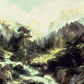 In The Teton Range by Thomas Moran