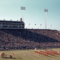 In This Vintage 1955 Photo The University Of Texas Longhorn Band by Austin Welcome Center