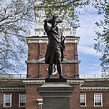 Independence Hall And Commodore Barry by John Greim