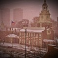 Independence Hall In The Snow by Bill Cannon
