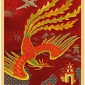 India, China And Japan, The Bird Of Paradise Countries - Air France Vintage Airline Travel Poster by Retro Graphics