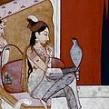 India: Lady & Hawk, C1570 by Granger