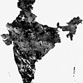 Map Of India-black by Erzebet S
