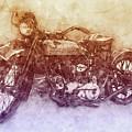 Indian Chief 2 - 1922 - Vintage Motorcycle Poster - Automotive Art by Studio Grafiikka