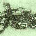 Indian Chief 3 - 1922 - Vintage Motorcycle Poster - Automotive Art by Studio Grafiikka