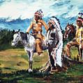 Indian Chiefs by Dennis  Rundlett