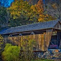 Indian Creek Covered Bridge In Fall by Mountain Dreams