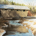 Indian Creek Covered Bridge by James Clewell