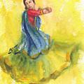 Indian Dancer by Asha Sudhaker Shenoy