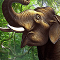 Indian Elephant 1 by Jerry LoFaro
