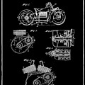 Indian Motorcycle Patent 1943 Black by Bill Cannon