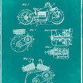Indian Motorcycle Patent 1943 Green by Bill Cannon