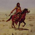 Indian Rider by PixBreak Art
