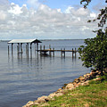 Indian River In Indialantic Florida by Allan  Hughes