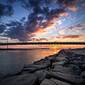 Indian River Inlet And Bay Sunset by Bill Swartwout Fine Art Photography