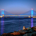 Indian River Inlet Bridge Twilight by Bill Swartwout Photography