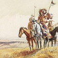 Indian War Party by Charles Marion Russell