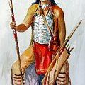 Indian With Spear And Arrows by Murray Keshner