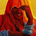 Indian Woman In Veil by Arti Chauhan