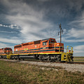 Indiana Southern Railroad Locomotives At Edwardsport Indina by Jim Pearson