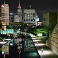 Indianapolis Canal Night View by Frozen in Time Fine Art Photography