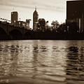 Indianapolis On The Water - Sepia Skyline by Gregory Ballos