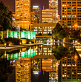 Indianapolis Skyline At Night Canal Reflection Picture by Paul Velgos