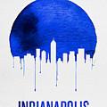 Indianapolis Skyline Blue by Naxart Studio