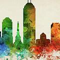 Indianapolis Skyline Panorama Usinin-pa03 by Aged Pixel