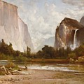 Indians Fishing In Yosemite by MotionAge Designs