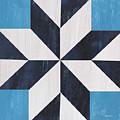 Indigo And Blue Quilt by Debbie DeWitt