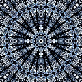 Indigo Flow Blue Kaleidoscope by Joy McKenzie