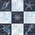 Indigo Nautical Collage by Debbie DeWitt