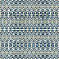 Indigo Ocean - Caribbean Tile Inspired Watercolor Swirl Pattern by Audrey Jeanne Roberts