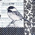 Indigo Vintage Songbird 2 by Debbie DeWitt