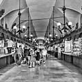 Indoor Market Krakow Black And White by Sharon Popek